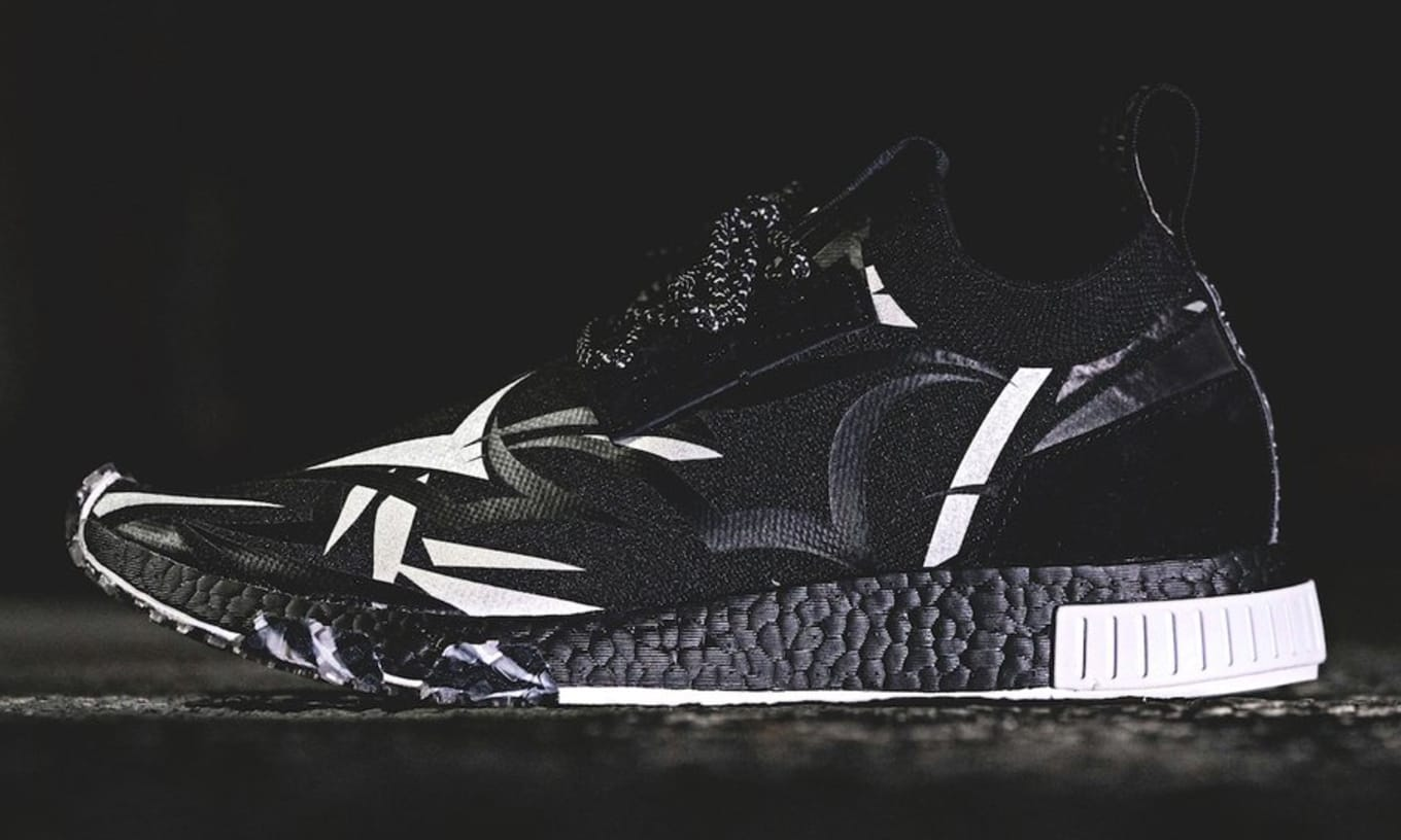 2a5baeacc8ac8 Juice x Adidas Consortium NMD Racer Core Black White DB1777 Release ...
