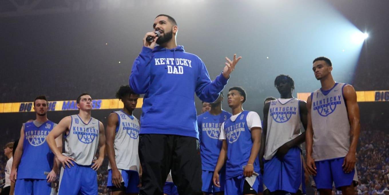 Drake OVO x Air Jordan 14  Kentucky Wildcats  Exclusive Sneakers ... e1f01303c