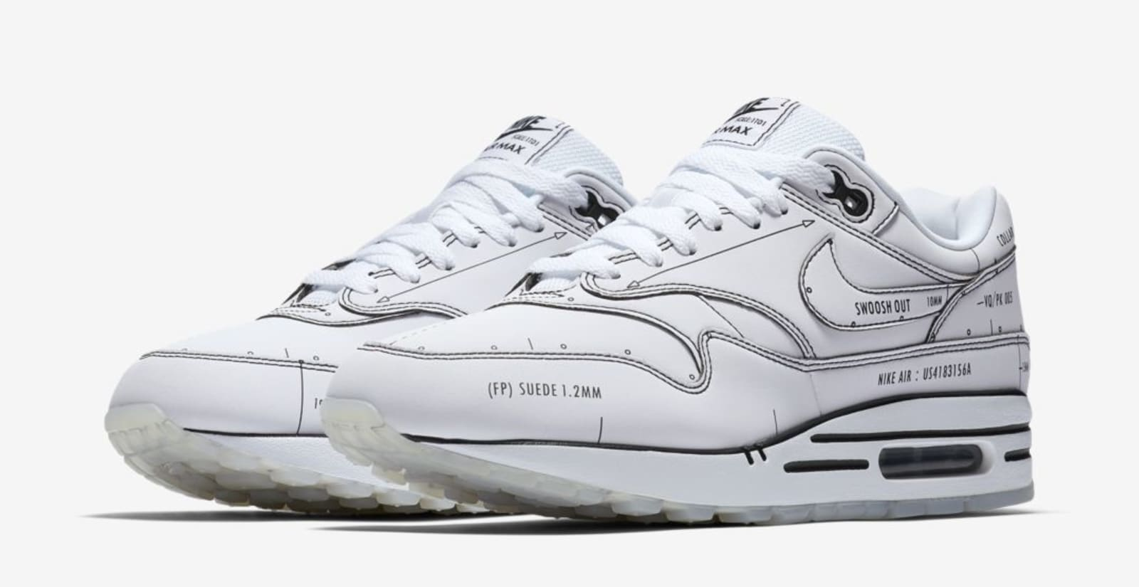 """Nike Air Max 1 """"Sketch To Shelf"""" Pack Drops This Weekend: Details"""