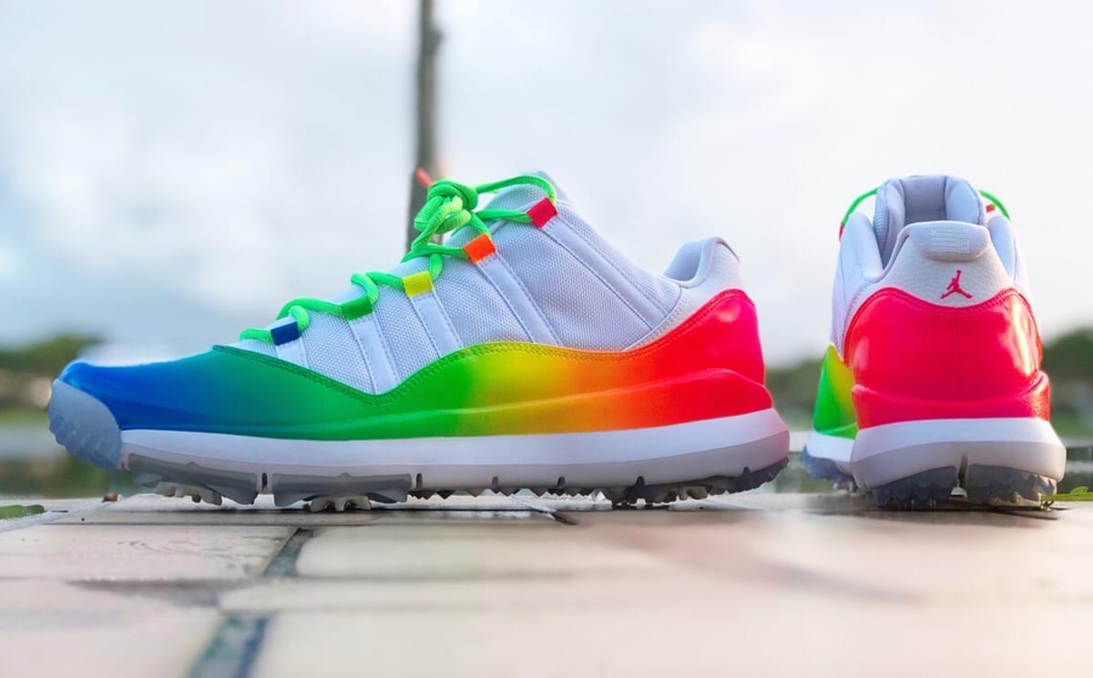 Rainbow Jordans Shoes