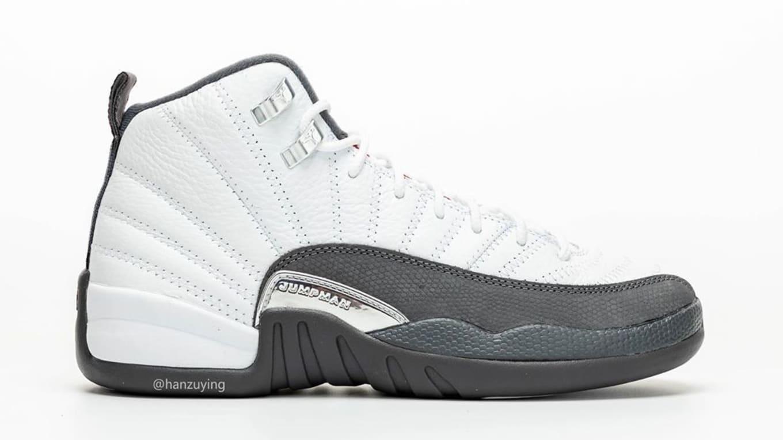Air Jordan 12 Retro 'White/Dark Grey/Gym Red' 130690-160 ...