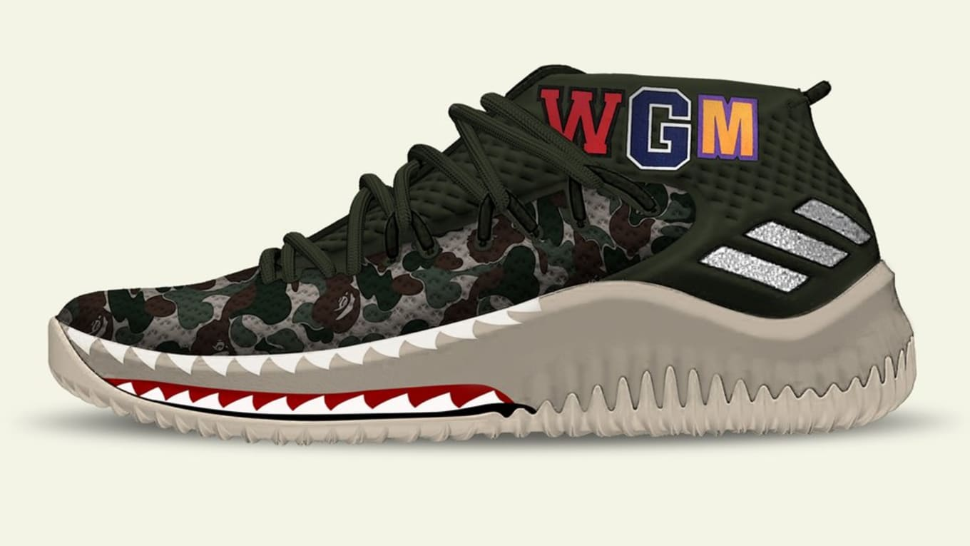 08377ed46c44 Bape Adidas Dame 4 Releasing All-Star Weekend 2018