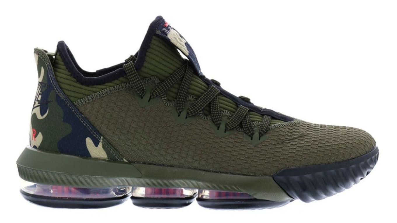 eaee823030a1 Nike LeBron 16 Low Camo Release Date CI2668-300