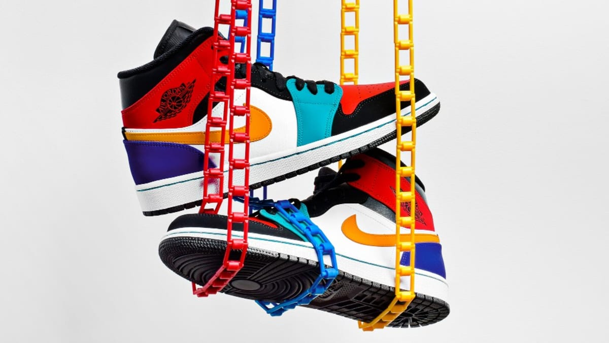Air Jordan 1 Mid  Multicolor  554724-125 Available Now  047a3c3ee