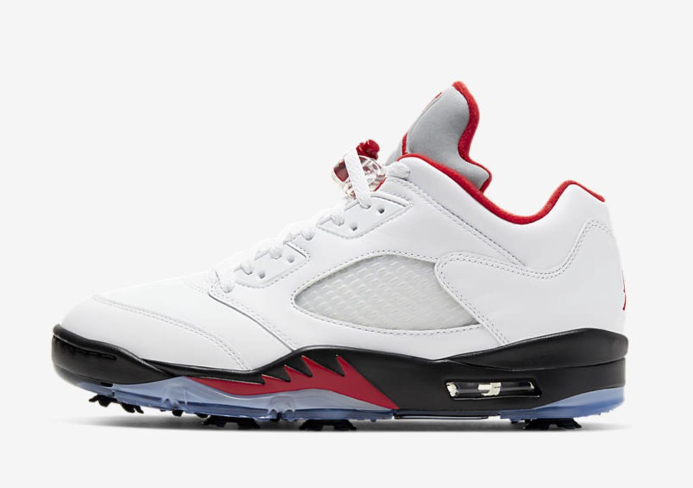 Air Jordan 5 V Golf Fire Red Cd3100 100 Release Date Sole Collector
