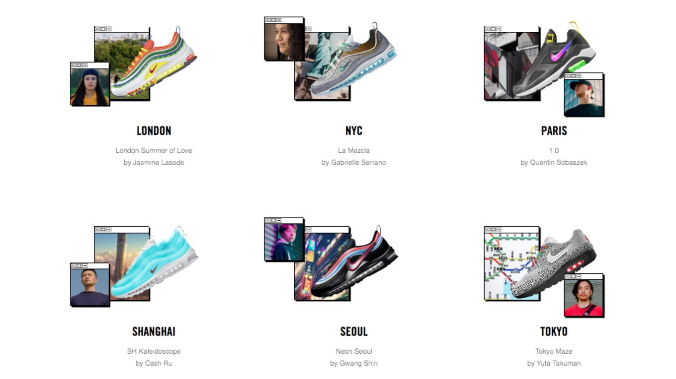 04b95ac6928a Voting for the Nike  On Air  Design Competition Is Now Open. 6 cities.
