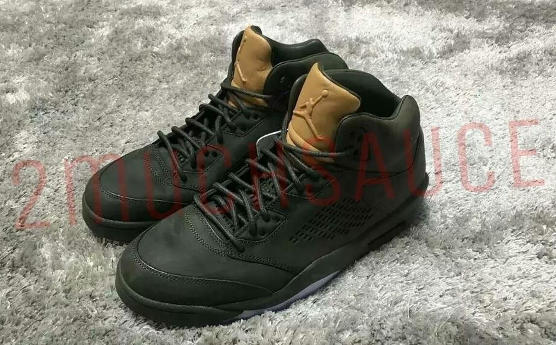 d729bb980f03 Air Jordan 5 Premium Green Tan Release Date