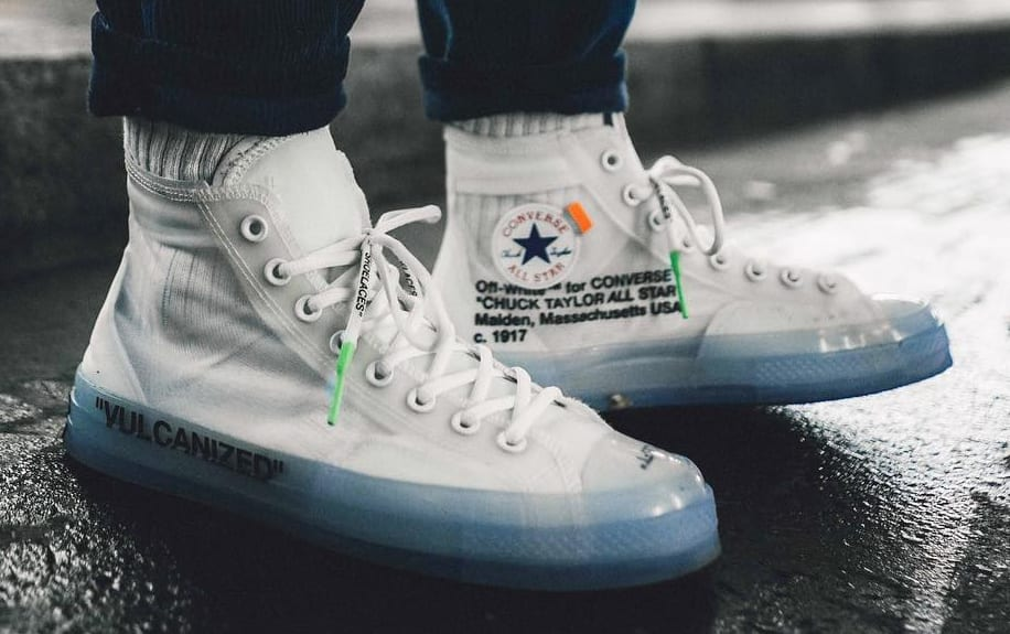 2018 OffWhite X Converse Chuck Taylor All Star High Tops White Latest