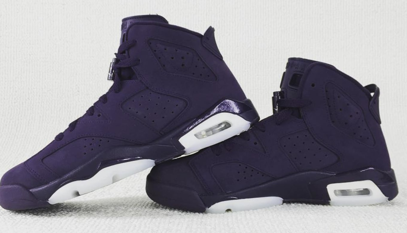 9630f2851180cc Air Jordan 6 GS Indigo Purple Suede 543390-509