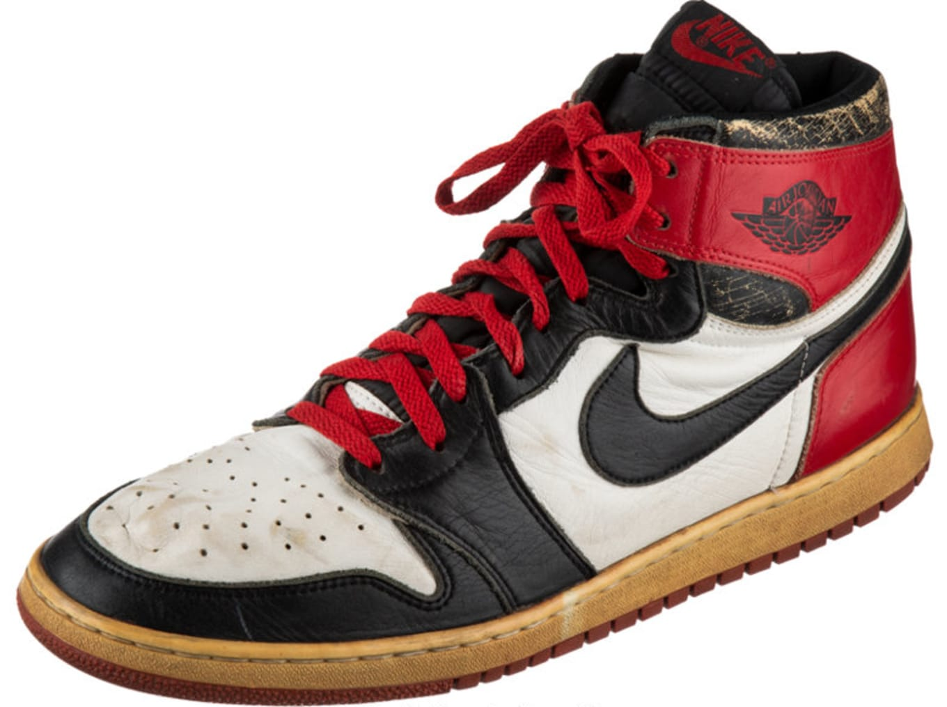 dedb4df747b4 Your Chance to Own One of Michael Jordan s Game-Worn Air Jordan 1s.  Black  Toes  ...