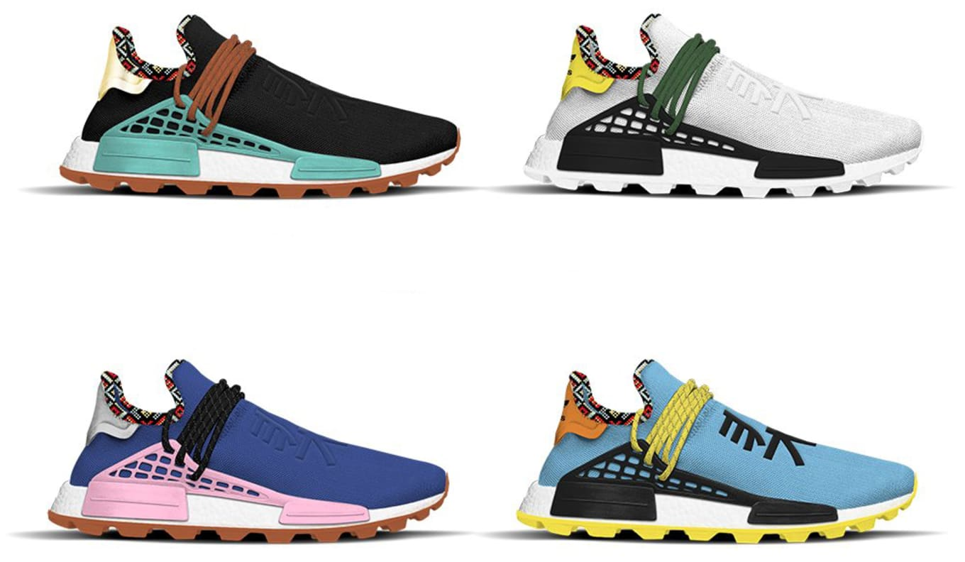 quality design 7dbee c408b Pharrell Williams x Adidas NMD Hu 'Inspiration' Pack Release ...