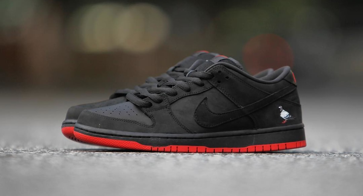 the latest fcbaa 29337 ... store nike sb dunk low black pigeon release date 88323 008 sole  collector 28eb7 7069a