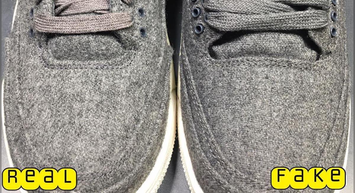 b9cb62987e6753 Wool Air Jordan 3 Real Fake Legit Check