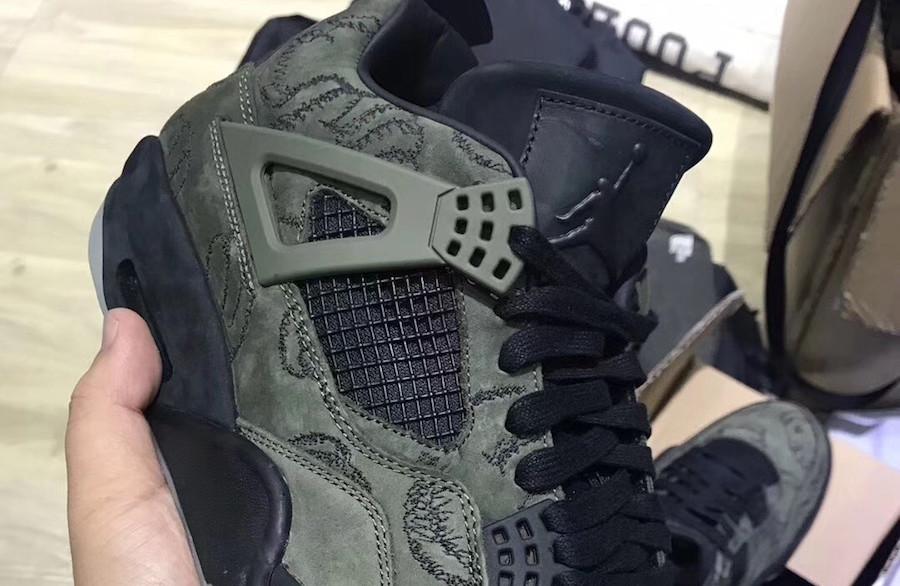 a01287e42c4 Fake Kaws x Air Jordan 4 Olive Green | Sole Collector