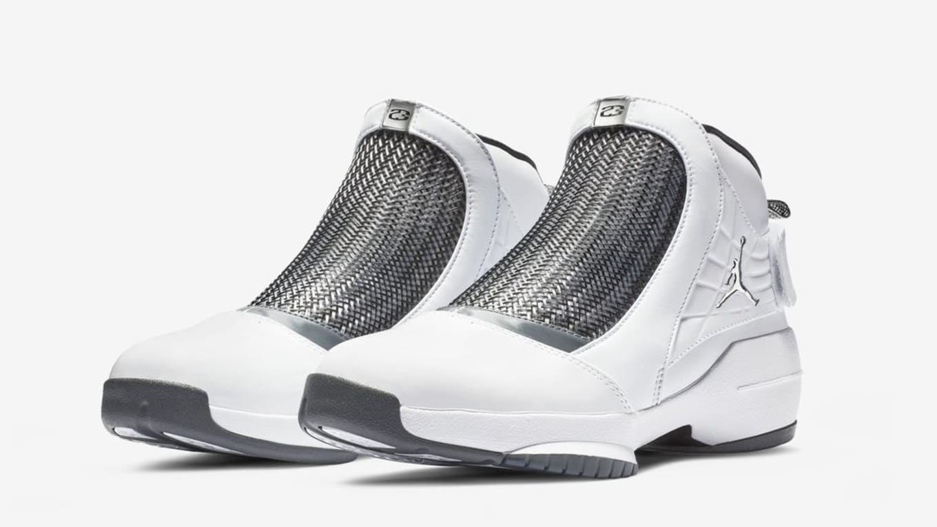 Air Jordan 19 XIX Retro  White Chrome Flint Grey Black  Release Date ... 516406ca78aa6