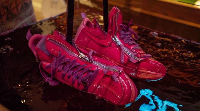 check out 0e488 fc9c6 Bodega Released a Limited Run of the Pink Dip-Dyed Acronym Lunar Force 1