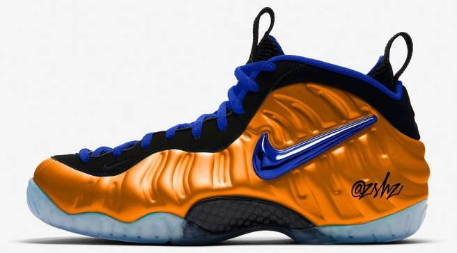 1ed6a3d5999 Foamposite Pros Rumored to Release in New York Knicks Colorway