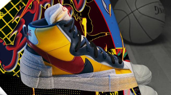 new arrival 66e22 11880 The Sacai x Nike Blazer Mid Collection Is Almost Here