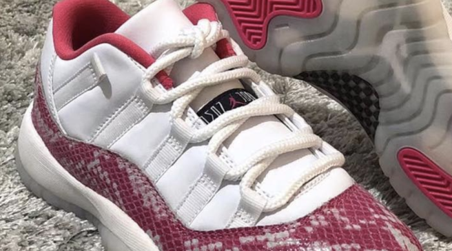 First Look at the  Pink Snakeskin  Air Jordan 11 Low 86f5b69e3