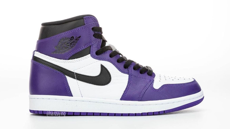 Air Jordan 1 Retro High OG 'Court PurpleWhite Black' 555088