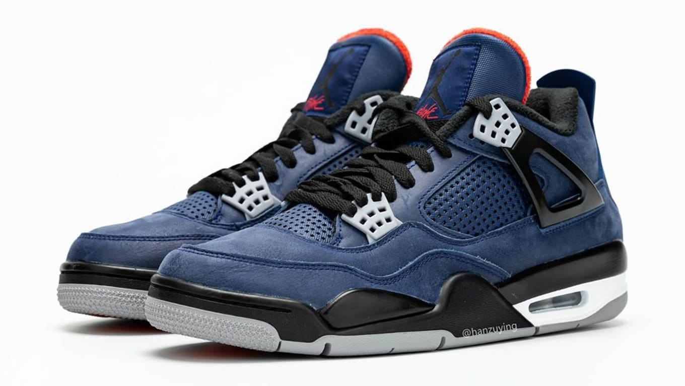 detailed look e24a2 41358 Air Jordan 4 WNTR 'Loyal Blue/White/Habanero Red/Black ...