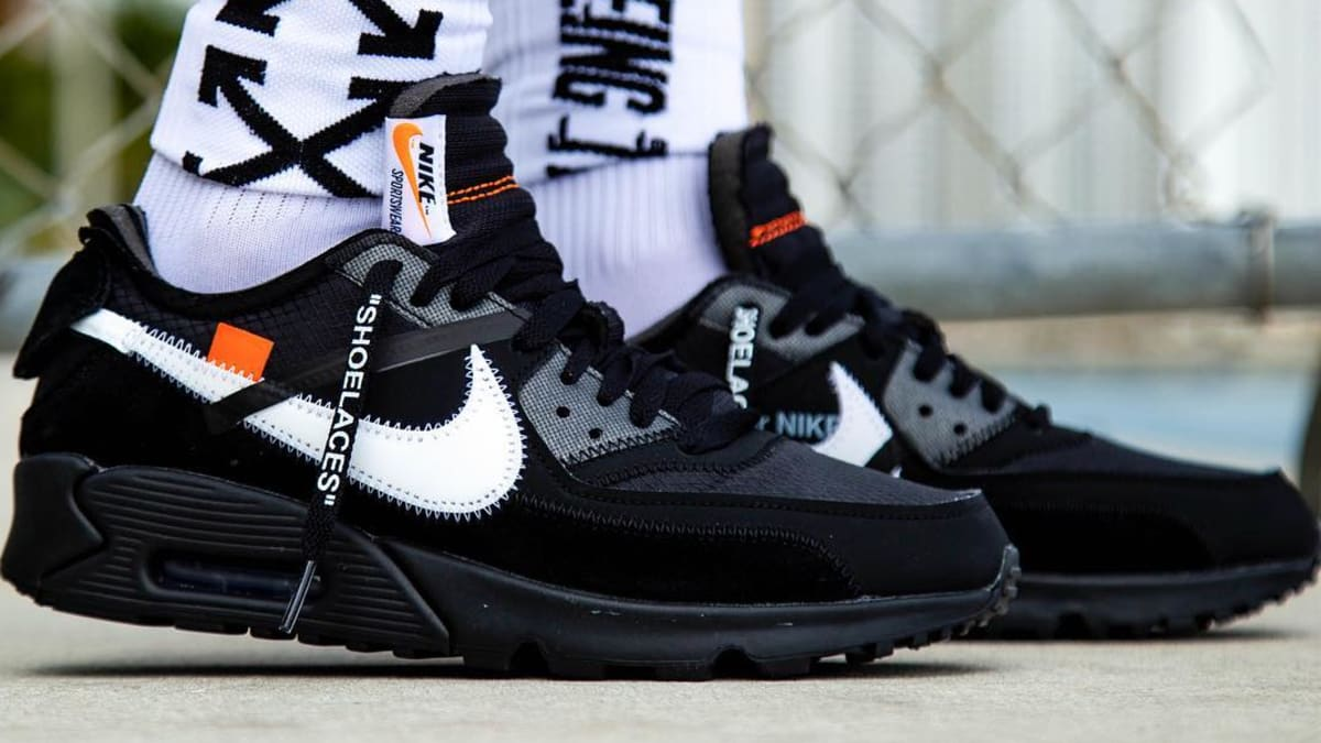 Off White Nike Air Max 90 Black Cone White Aa7293 001 Release Date