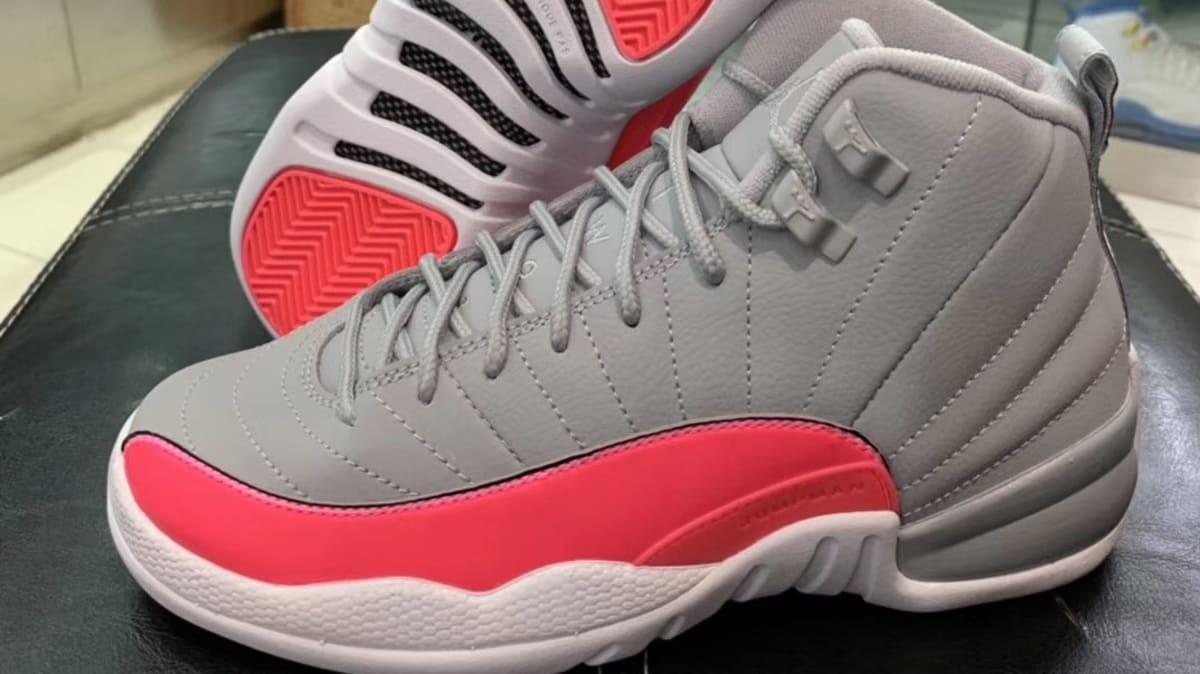 b2f4a0cc2ac9 Air Jordan 12 GS Grey Pink Release Date 510815-060