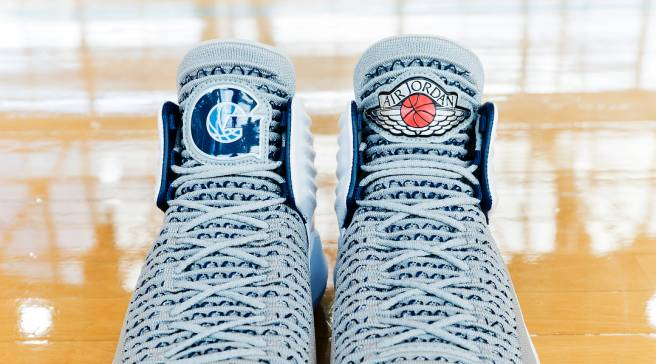 aa6725e95c53 Georgetown Basketball Unveils Its Own Air Jordan 32