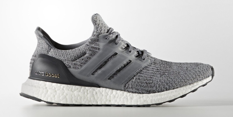 Adidas Ultra Boost 3.0 LTD Leather Cage Grey Tan size 9.5. BA1092