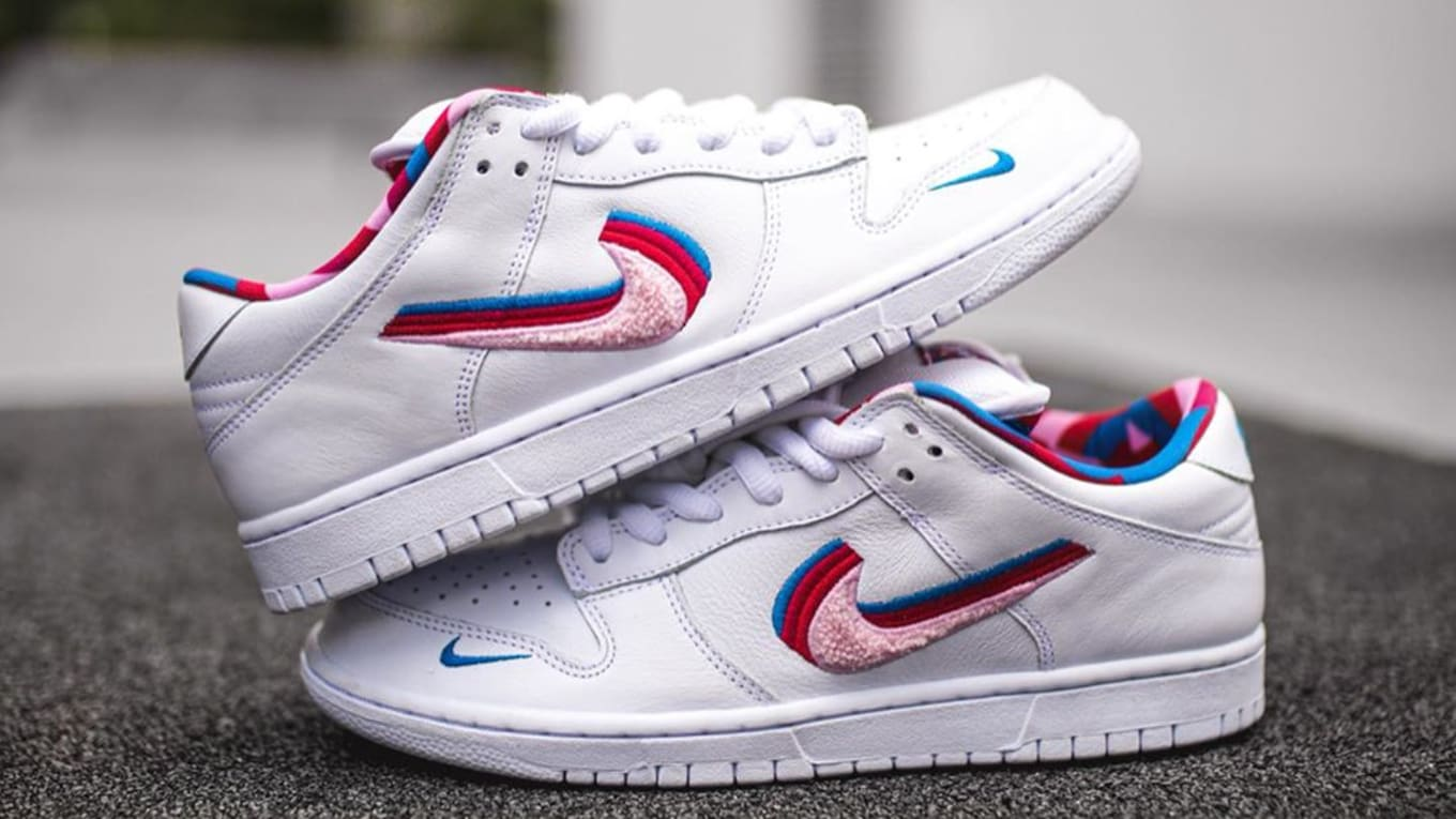 free shipping a9aae a2b81 Detailed Shots of the Parra x Nike SB Dunk Low