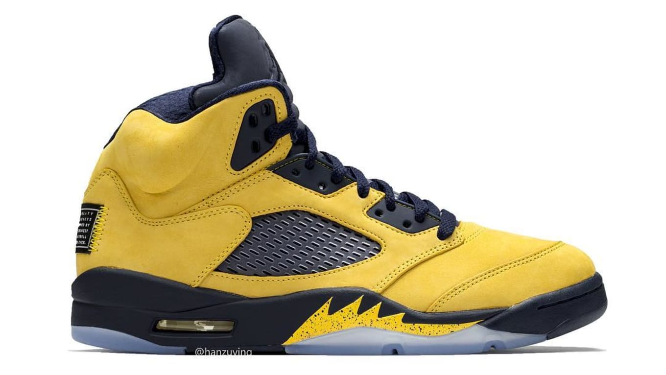 807f5b396d52 Air Jordan 5 Retro SP  Michigan  2019 Release Date CQ9541-704