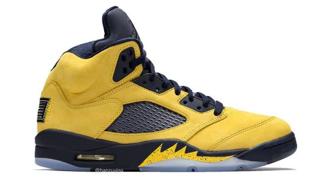 a52af0315777 The Latest Look at the Upcoming  Michigan  Air Jordan 5