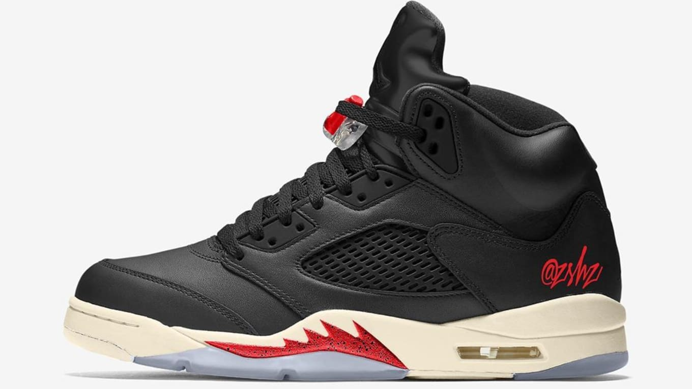 new style ab1af 85bef Air Jordan 5 'Black/Muslin-Fire Red' CT8480-001 Release Date ...