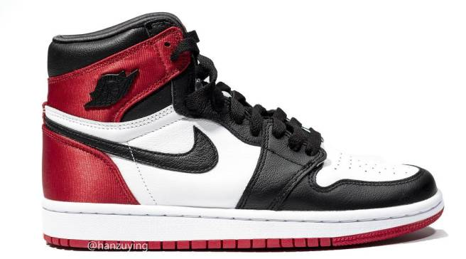 560dcaab67fd Here s a Better Look at the Air Jordan 1 Satin  Black Toe