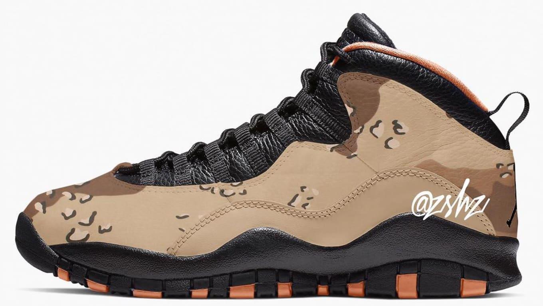 ea48e3d7804 Air Jordan 10 Retro 'Desert Camo' 'Woodland Camo' Release Date ...