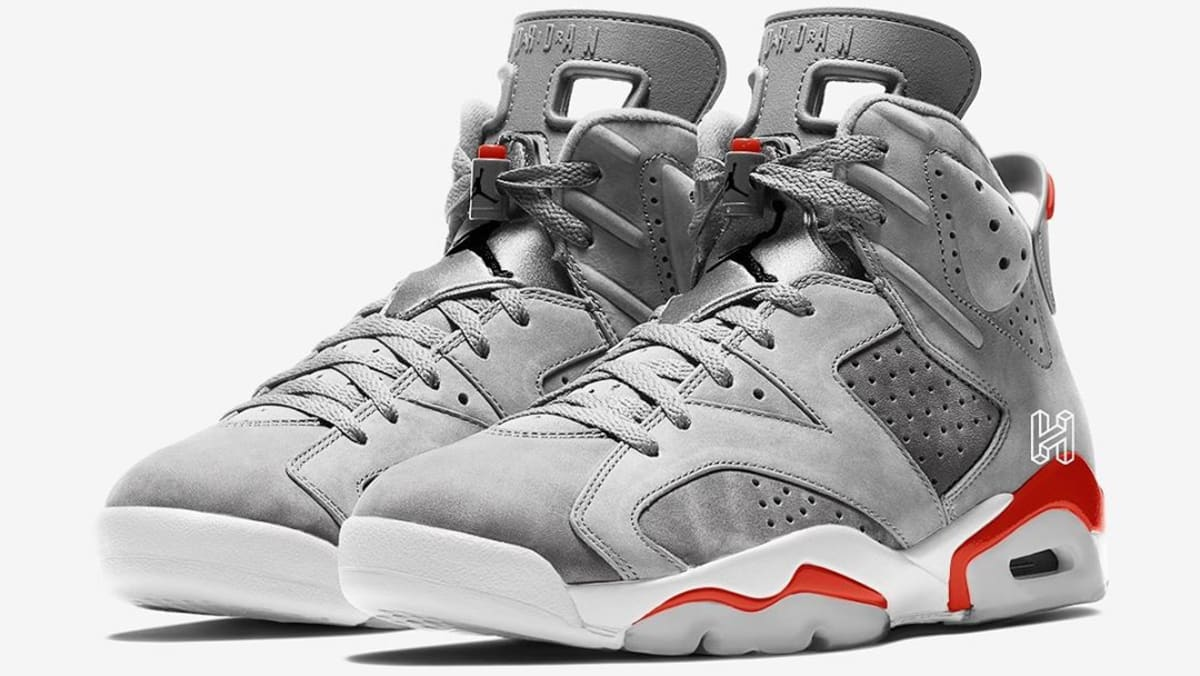 picked up latest best authentic Air Jordan 6 Retro 'Neutral Grey/White/True Red/Black' Release ...