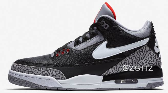 a5a1884a7560ae Jordan Brand Is Adding a Swoosh to the  Black Cement  Air Jordan 3