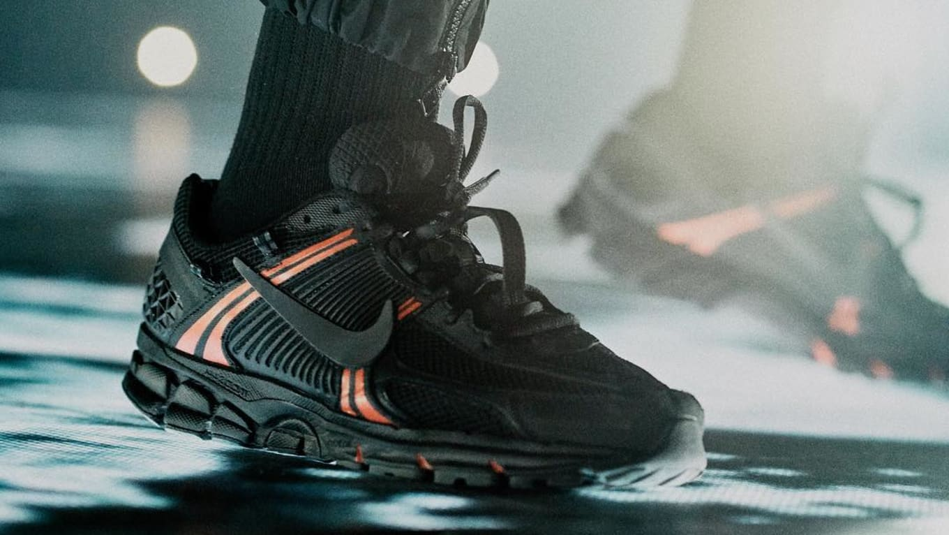 outlet store 381e3 c0e8d Drake Debuts a New Nike Zoom Vomero 5 Colorway on Stage in Paris ...