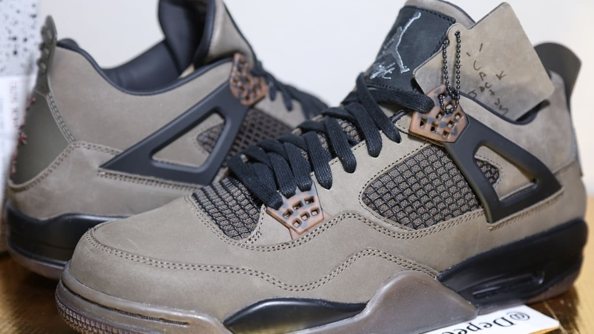 881349912e4 Up Close Look At Travis Scott's 'Olive' Air Jordan 4 Collab | Sole Collector