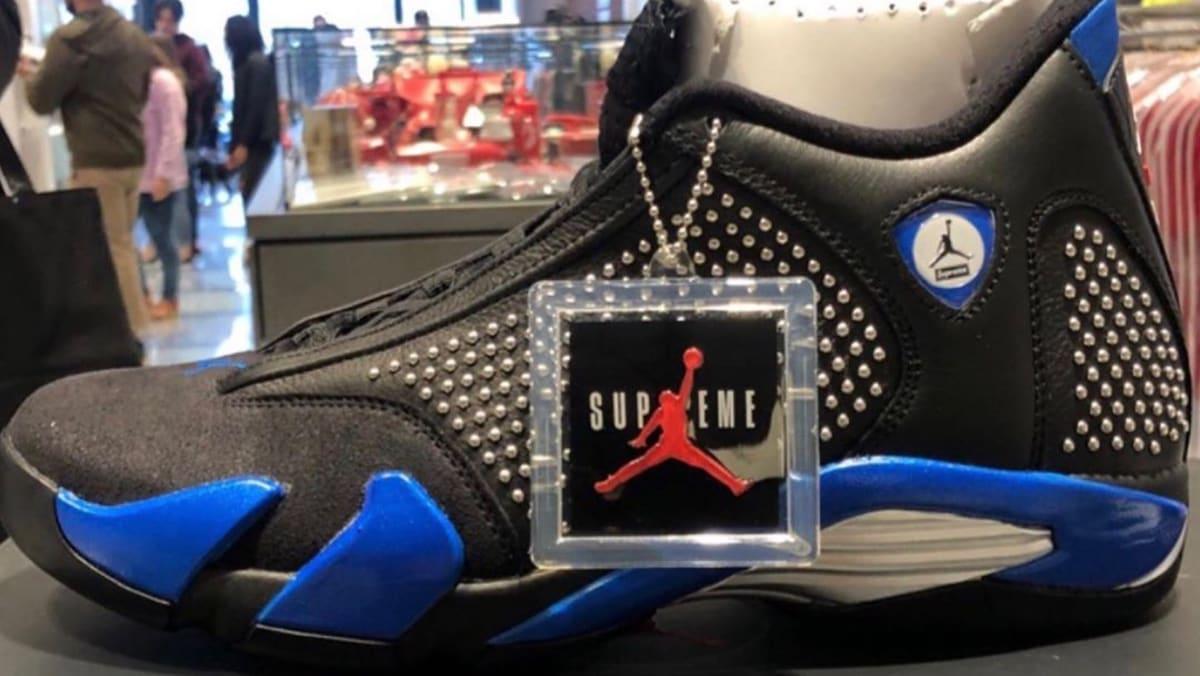 buy online 450c0 ca04e Supreme x Air Jordan 14 Release Date   Sole Collector