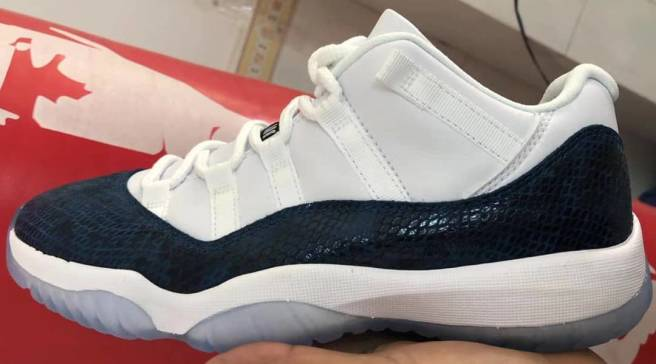 First Look at 2019 s  Blue Snakeskin  Air Jordan 11 Low Retro 7eece73e1