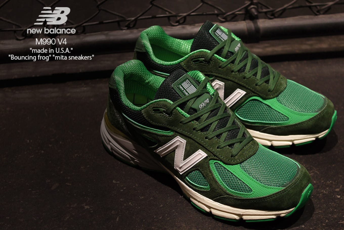 competitive price 092fc a985b Mita Sneakers x New Balance 990 v4 'Bouncing Frog' Release ...