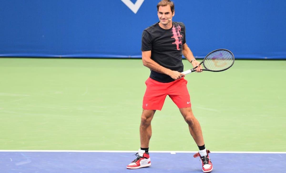 Asentar Endulzar oveja  Roger Federer Plays Tennis in the Off-White x Air Jordan 1   Sole Collector