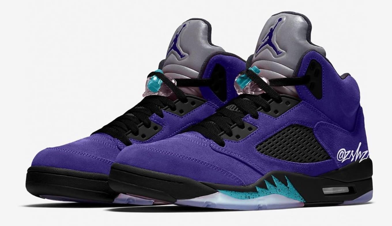 air jordan retro 5 grape for sale