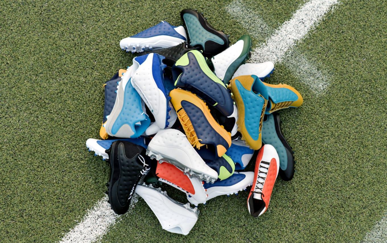 2e5e6528721 Air Jordan 13 NFL Cleats | Sole Collector