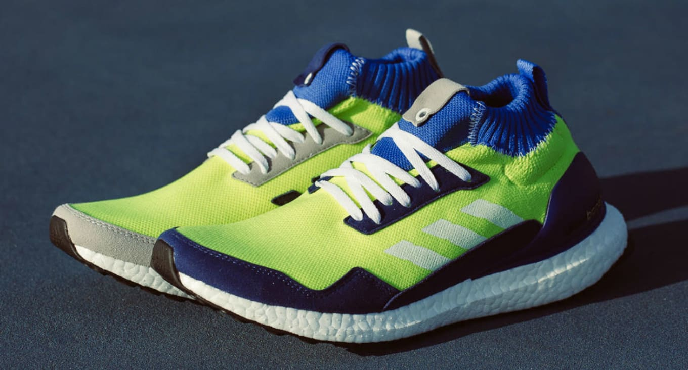 27a34f6154882 Adidas Consortium Ultra Boost Mid Prototype Solar Yellow Hi Res Blue-White