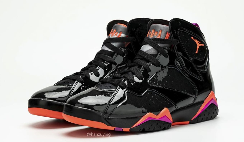 competitive price cc131 49958 Air Jordan 7 Retro WMNS 'Black Patent Leather' 313358-006 ...