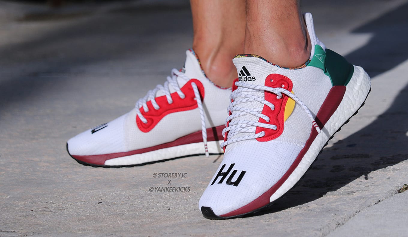 2184f104d5a61 Pharrell Williams x Adidas Solar Glide Hu ST White and Black On-Foot ...