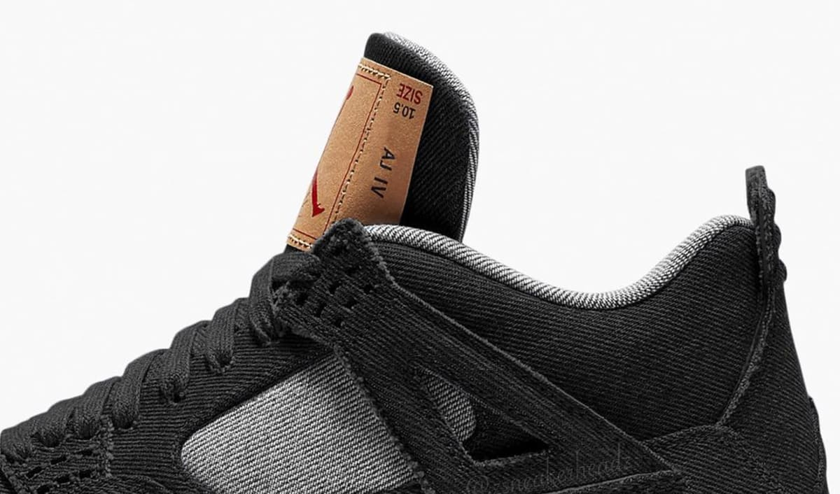 642a26babb8 Black Levi's x Air Jordan 4 Collaboration Rumored for Summer. Updated release  date.
