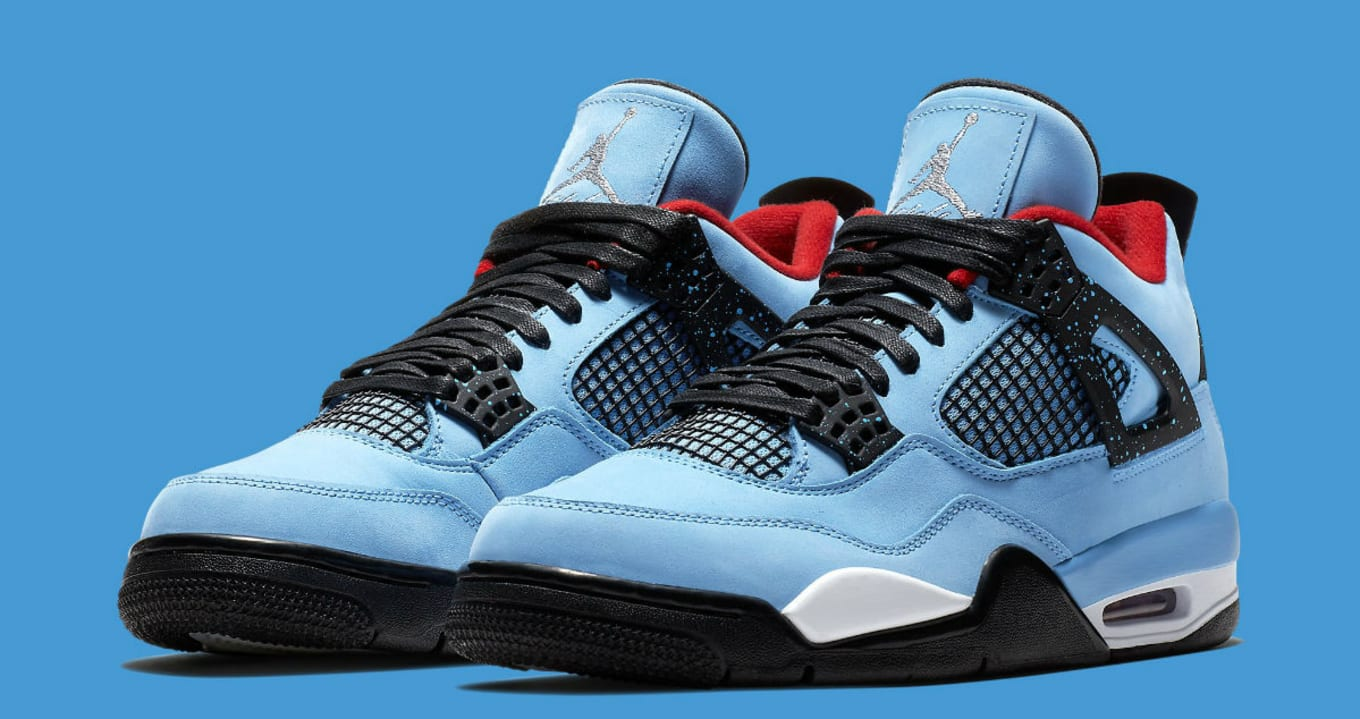 1f804ffb8e0329 Travis Scott x Air Jordan 4  Houston Oilers  308497-406 Release Date ...